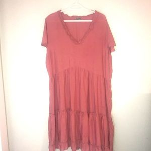 J for Justify rose colored ruffle dress Size 2x